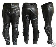 Pantalone Moto  PELLE NERO PROTEZIONI-CE-9200
