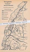 Schwarzwald - Gesteinsverwerfungen - Übersichtsplan  - um 1935 - selten  N 12-16