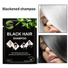 Natural Plant Black Shampoo Hair Dye Make Grey White Darkening Shinny