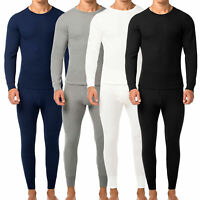 Men's  2pc Premium Cotton Waffle Knit Thermal Underwear Stretch Top & Bottom Set