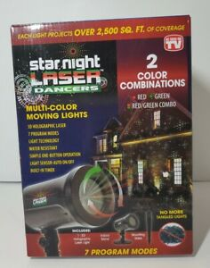 Starnight Laser Dancers, Multi Color Moving Lights With 3d Holographic Laser