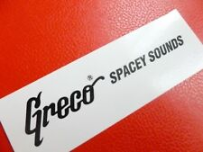 """GRECO Spacey suoni Decalcomania per un """"T"""" Style GUITAR. NERO... scivolo ad acqua"""