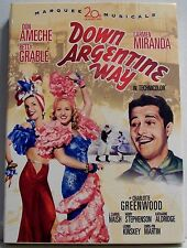 Down Argentine Way NEW DVD Marquee Musicals Don Ameche Betty Grable Miranda NEW