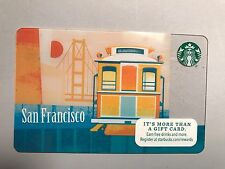 New Starbucks San Francisco Cable Car Gift Card-NO Cash value. NOT swiped