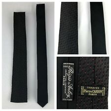 Vintage 80s Necktie Set Pierre CARDIN, Regis Anley 100% Silk Made In France