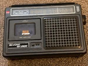 Vintage Sharp Radio Tape Recorder Model GF-2800 E *Restoration* Not Working