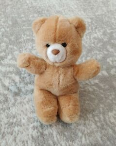 "Vintage Applause 1986 Mini 9"" Brown Teddy Bear Stuffed Plush SANITIZED"