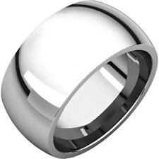 Topper: Bold 10mm Comfort Fit Domed 316 Stainless Steel Wedding Band