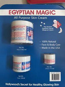 3 Pack Egyptian Magic All Purpose Skin Cream Face & Body 100% NATURAL 5.25 Oz