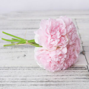 peony artificial silk flowers home room living faux flower fake quality high