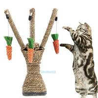 Pet Cat Kitten Scratching Post Interactive Toys Scratcher Sisal Rope Climbing