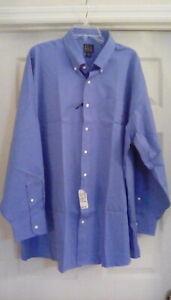 NWT Jos. A. Bank Men's Executive Collect Dress Shirt Cobalt Blue Size 18 1/2 -35