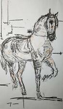 JOSE TRUJILLO - HUGE Art Expressive CHARCOAL DRAWING ORIGINAL Figurative Horse 3