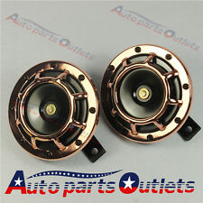 Bronze SUPER LOUD TONE GRILL MOUNT 12V ELECTRIC COMPACT CAR HORN 335HZ/400HZ