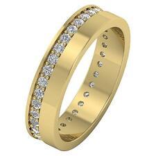 Round Cut Diamond Eternity Engagement Wedding Ring Vs1 F 0.85Ct 14Kt White Gold