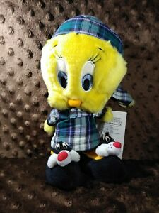 Tweety Bird Plush in Pajamas with Silvester shoes Looney Tunes Warner Bros 1998