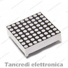 DISPLAY LED MATRICE 8 X 8 DOT MATRIX 3 mm ROSSO ANODO 16 pin ARDUINO 32x32mm
