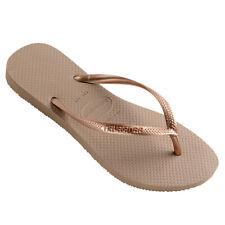 Havaianas Slim Women's Thongs / Flip Flops / Sandals - Rose Gold - Slim Profile