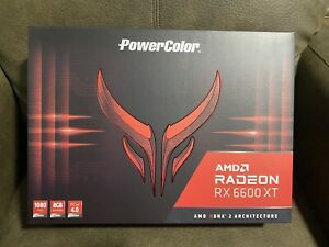🔥PowerColor Red Devil AMD Radeon RX 6600 XT 8GB NEW SEALED IN HANDS 🚨📦