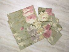 Vintage Country Floral Shabby Chic Pastel- lined Placement Mats & Napkins Set