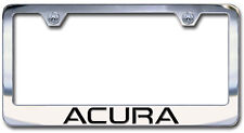 NEW Acura Chrome License Plate Frame Engraved Block Letters (Set of 2)
