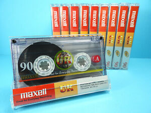 🙈 10x MAXELL UR 90 * IEC TYPE I 1 * Tapes Cassettes Kassetten кассеты *