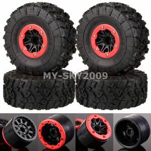 "4pcs 2.2"" Wheel Rim BEADLOCK Super Swamper Rocks Tyre Fits 1/10 RC Buggy Crawler"