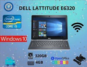 "Dell E6320 INTEL CORE i5-2ND GEN,13.3"", HDD:320GB RAM:4GB WIN 10 WIFI USB"