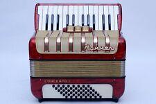 EXCELLENT 48 BASS PIANO ACCORDION HOHNER CONCERTO I  INCLUDING CASE