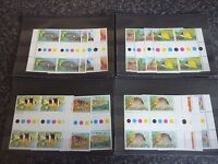 COCOS (KEELING) ISLANDS POSTAGE STAMPS SG34-47 INC A'S 1C-$2 BLOCKS OF 4 UMM