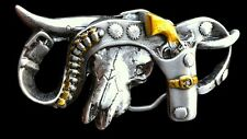 HOLSTER GUN COLT COWBOY WESTERN TEXAS UNISEX BELT BUCKLE BOUCLE DE CEINTURE