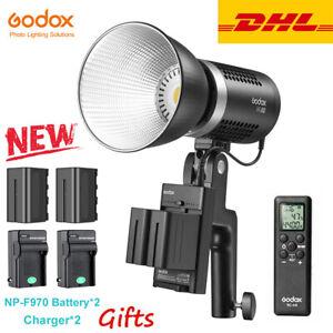DHL Godox ML60 60W Handheld LED Video Light w AC Power Supply& 2*NP-F970 Battery