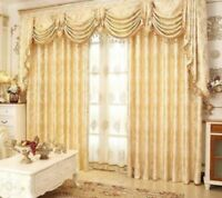 Embroidered European Style Curtains Ribbon Control Window Sheet Cover Decoration