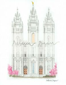 salt lake city utah lds temple church of jesus christ image color print temples
