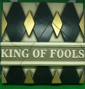 'King of Fools' Plaster Wall Plaque, Notre Dame, Paris, Diamonds, New Orleans