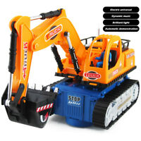 Toys for Boys LED Electric Construction Vehicle Excavator Truck Kids Xmas Gift