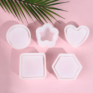 Silicone Plant Pot Molds Form Arts Craft Polygonal Casting Moulds DIY Clay MoFY