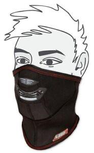 Maschera Scaldacollo Sottogola Antivento Tessuto Copricollo Invernale Moto Nero