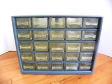 Vintage 25 Drawer Tool Nutbolt Small Parts Storage Cabinet