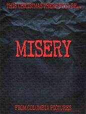 MISERY Movie POSTER 27x40 C James Caan Kathy Bates Lauren Bacall Richard