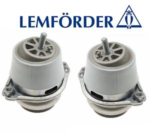 Engine Motor Mounts Hydraulic Set Lt & Rt 2pc OEM Lemforder Porsche Cayenne V8