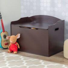 KidKraft Austin Toy Box Espresso Brown Kids Wooden Play Toy Storage Boxes Decor