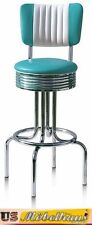 BS28-CB Turquoise Bel Air bar Stool Diner Counter Chair Fifties America Style