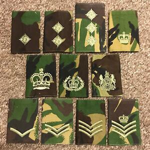 British Army Surplus DPM Camouflage Rank Slide, Lance Corporal - Field Marshal 1