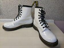 Dr Martens / Doc Martens 1460 White Patent Leather Boots US Size 8.5 L / EUR 40