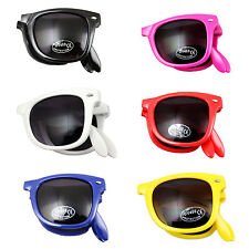 RETRO FOLDING  SUNGLASSES UV400 GLASSES  80s STYLE FANCY DRESS STAG HEN PARTY