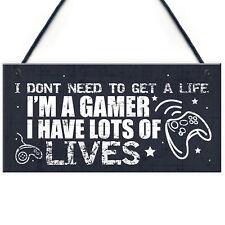 I'm A Gamer Bedroom Accessories Funny Novelty Hanging Door Plaque Birthday Gift