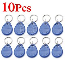RFID ID/EM Proximity Token Key Tag Keyfobs 125Khz 4100 ID key fobs 10 Pcs Blue