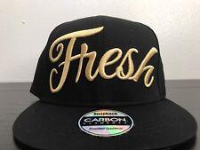 Fresh Spellout Black SnapBack Cap Hat