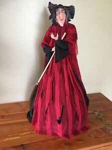 """Animated Witch Doll Decor Vintage Halloween 26"""""""